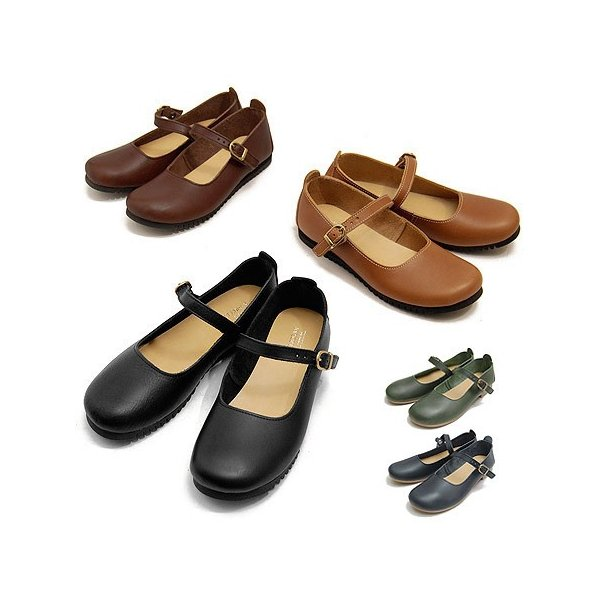 クレドラン CLEDRAN オイルレザーシューズナロウ NARROW ストラップシューズ 本革 レディース CL-1430 靴 ブランド