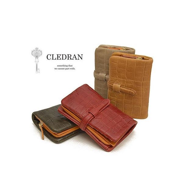 クレドラン CLEDRAN 財布 レディース 二つ折り アドレ ADORE クロコ型押し S-6218 ブランド 本革|irohamise