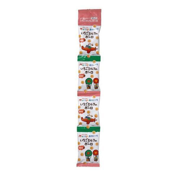 メイシーちゃん(TM)のおきにいり いちごミルクのボーロ  16g×4 5個セット 創健社