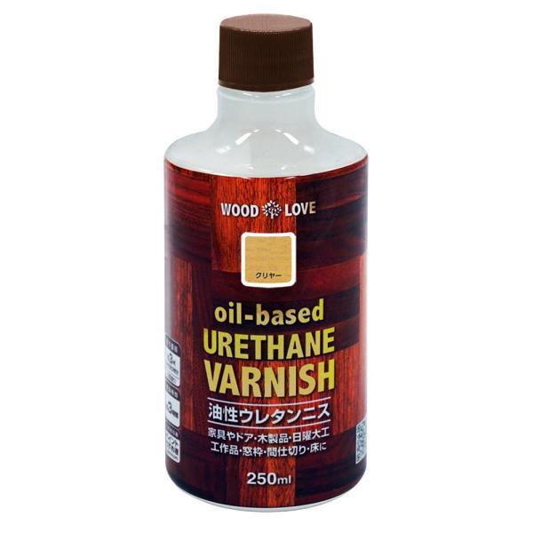 ペンキ 塗料 木製品 7色 ニス ニッペ 油性ウレタンニス 250ml