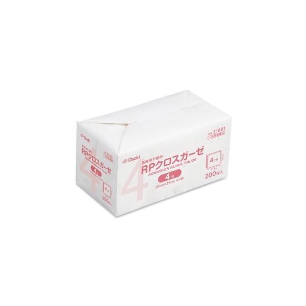 RPクロスガーゼ 4号 オオサキメディカル 25cm×25cm 4ツ折 200枚入 21801|iru-collection