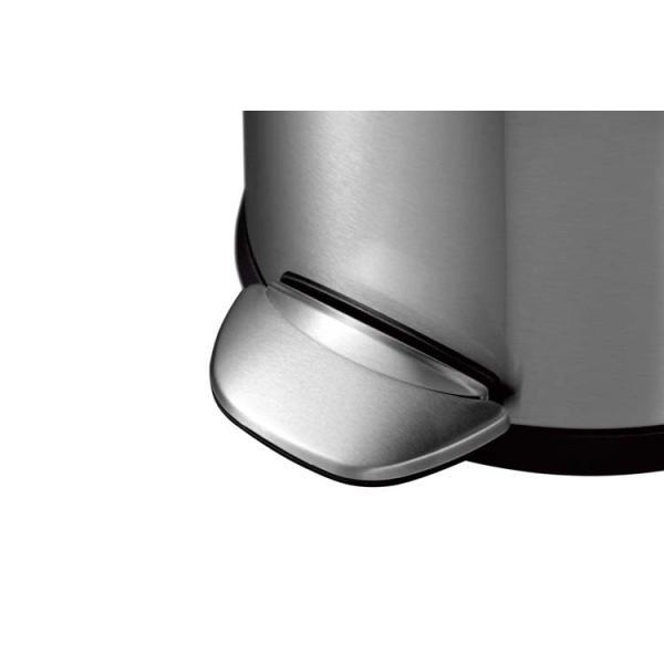 ゴミ箱 ふた付 ペダル 縦型 丸型 ステンレス製 スチール製 EKOJAPAN ルナ ステップビン 8L EK9219MT-8L iru 04