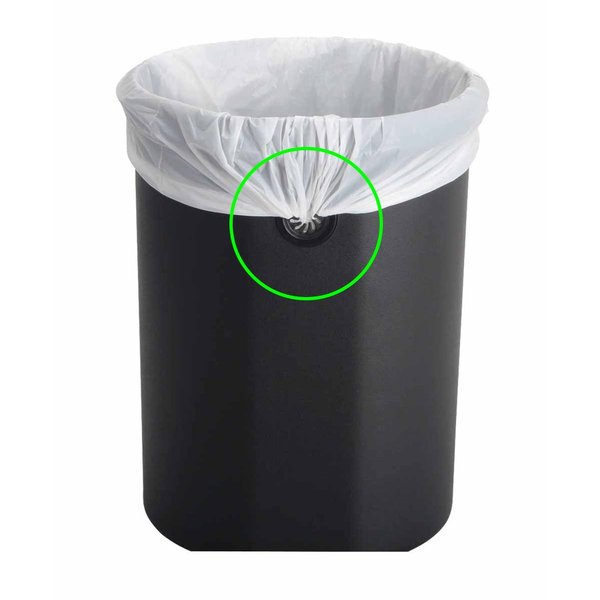 ゴミ箱 ふた付 ペダル 縦型 丸型 ステンレス製 スチール製 EKOJAPAN ルナ ステップビン 8L EK9219MT-8L iru 06