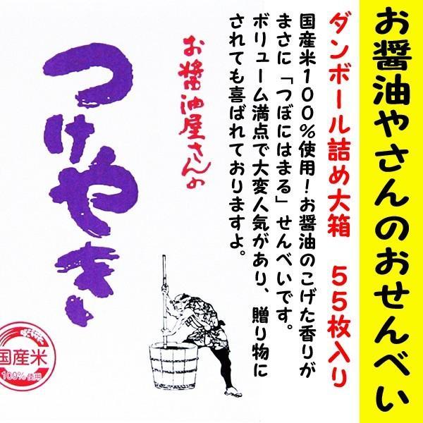 関口醸造 お醤油屋さんのつけやき しょうゆ味 55枚入 ダンボール詰め大箱 「つぼにはまる」せんべいです! is-mart 02