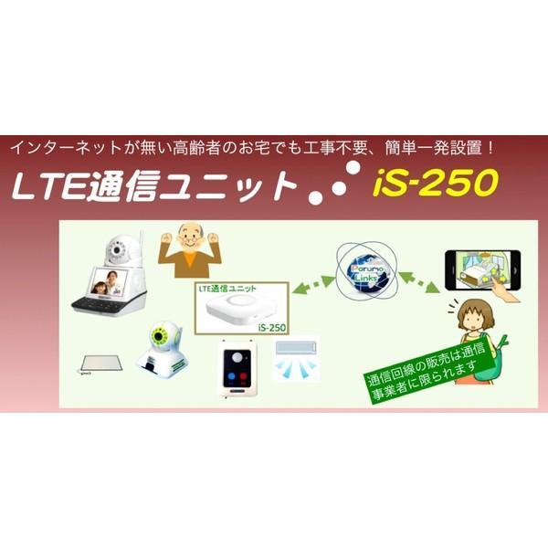 インターネットが無い高齢者のお宅向け、工事不要 LTE通信ユニットiS-250 テレビ電話パルモ用SIM登録済み|iseed-shop|04