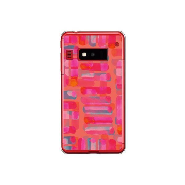iida INFOBAR A03 ケース カバー テクスチャフリーク ピンク