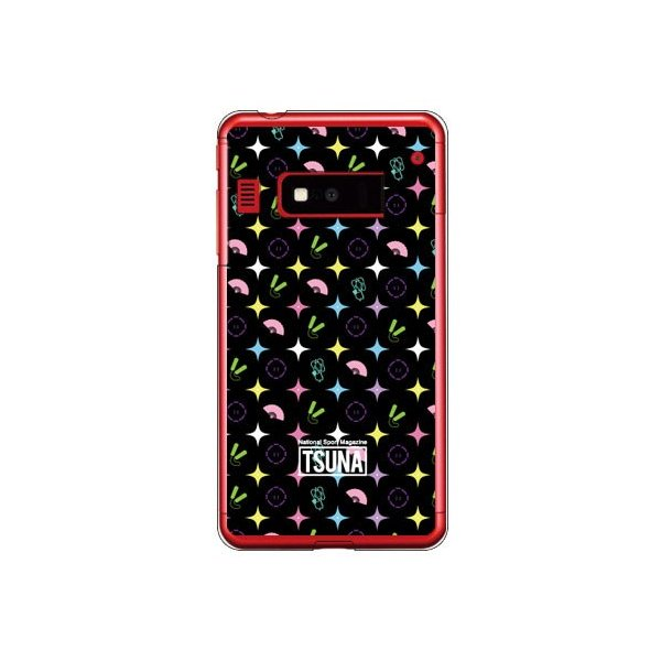 iida INFOBAR A03 ケース カバー 相撲情報誌TSUNA icon (アイコン柄) 3 ブラック