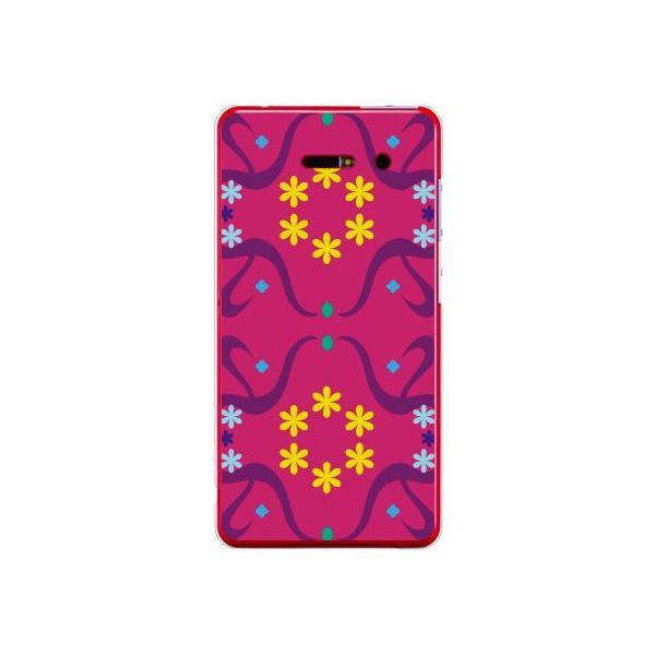 iida INFOBAR A02 ケース カバー 花柄 花模様 花柄 花模様 スモールフラワー パターン パープル