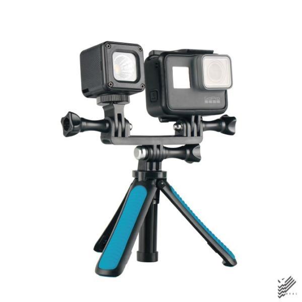 2台取り付けできるトライポッドマウント for GoPro HEROシリーズ / アクションカメラ【YP】