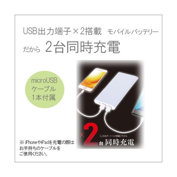 モバイルバッテリー microUSBスタンダード 5000mAh|isfactory|03
