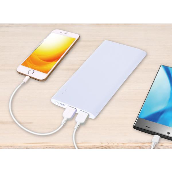 モバイルバッテリー microUSBスタンダード 5000mAh|isfactory|10