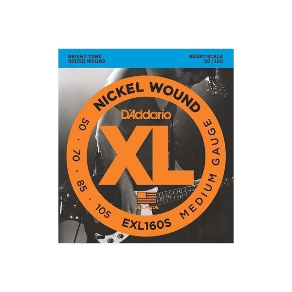 D'Addario / EXL160S XL NICKEL Bass Strings 50-105 Short Scale (渋谷店)