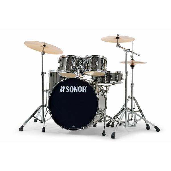 SONOR / AQX Stage Set #Black Midnight Sparkle SN-AQXSGBMS ソナー 22インチバスドラム ドラムフルセット(お取り寄せ商品)