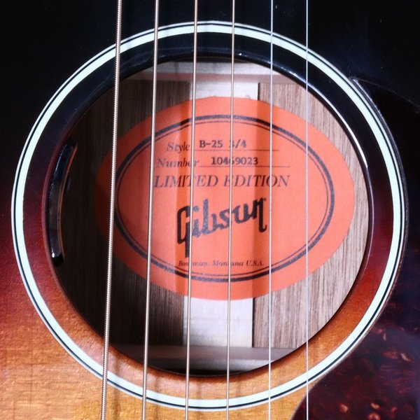 Gibson / B-25 3/4size with Lyric PU_Triburst ギブソン(S/N 10469023)(御茶ノ水HARVEST_GUITARS)|ishibashi-shops|09