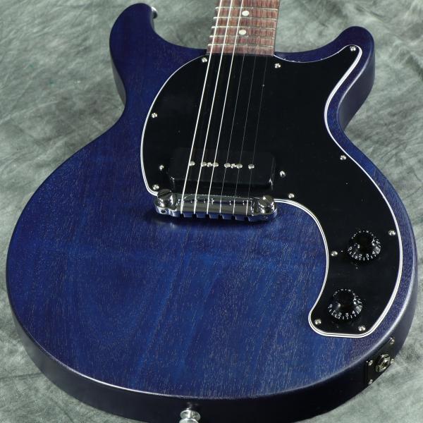 (タイムセール:28日12時まで)Gibson USA / Les Paul Junior Tribute DC 2019 Blue Satin (特典つき/80-set21419)(S/N 115790095)|ishibashi