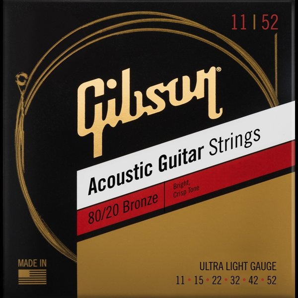 Gibson/SAG-BRW1180/20BronzeAcousticGuitarStrings11-52Ultra-Light