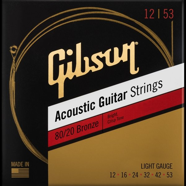 Gibson/SAG-BRW1280/20BronzeAcousticGuitarStrings12-53Light(アコーステ
