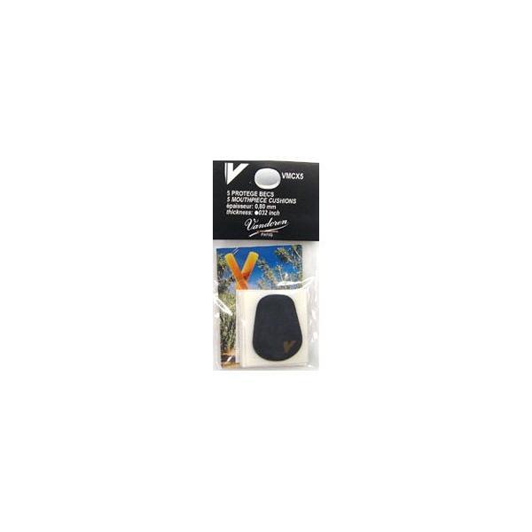 VANDOREN バンドレン マウスピースクッション 黒色 6枚入り、厚さ0.80 mm VMCX6|ishibashi