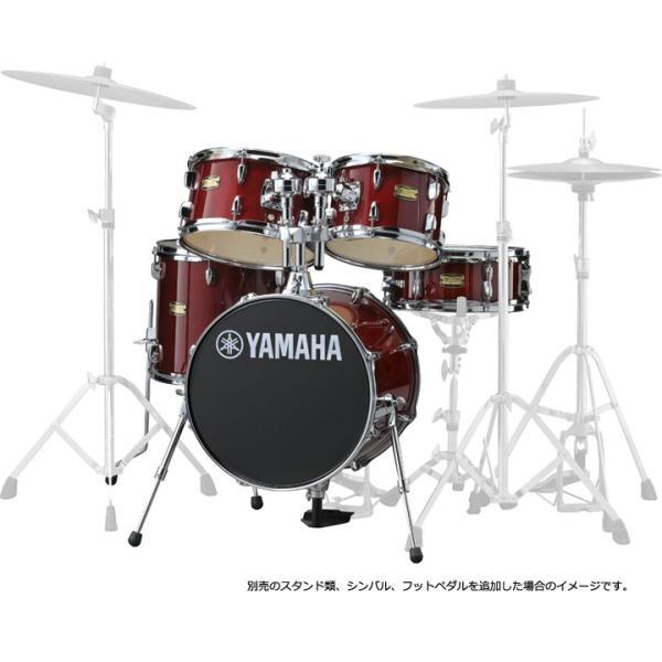 YAMAHA JK6F5CR 16BD コンパクトドラムシェルパック ジュニアキット CRクランベリーレッド(YRK)|ishibashi|02