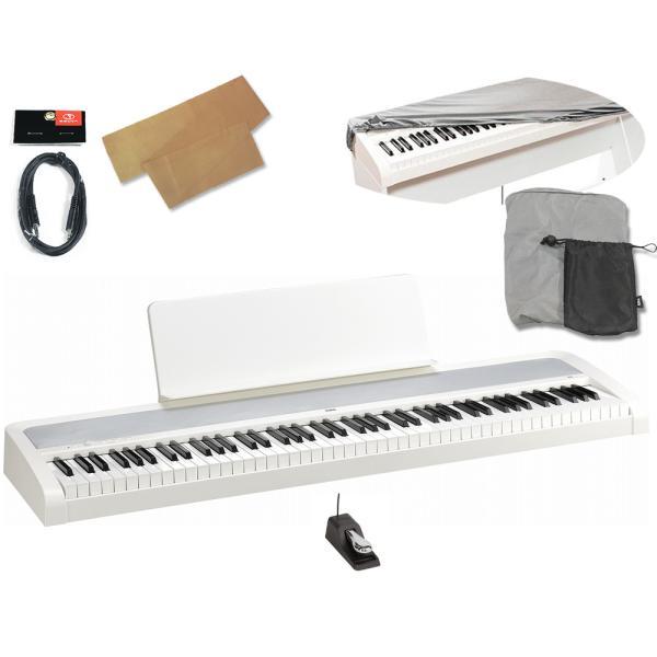 (あすつく365日)KORGB2-WH ホワイト(純正ダストカバー/クロスキーカバー/ステレオミニケーブル付)デジタル・ピアノ(数量限定KRONOSロゴ入り印鑑プレゼント)