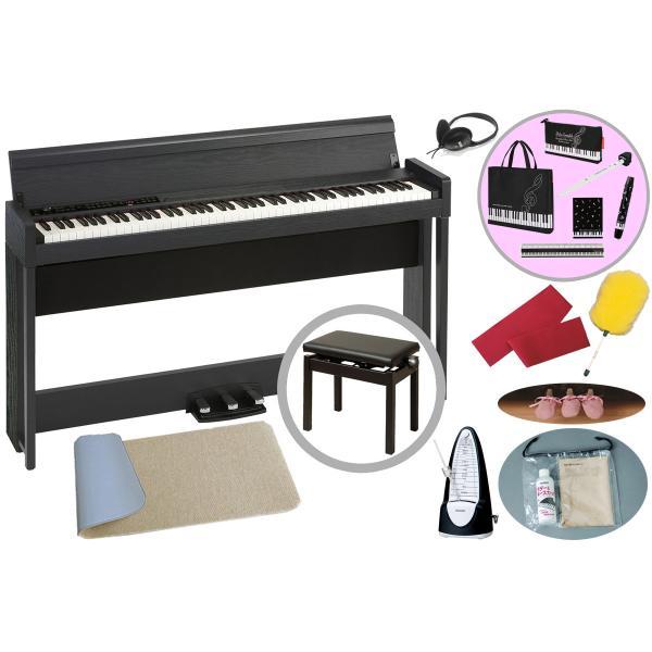 KORG / C1 Air WBK(防振マット+レッスンセット!)(ウッデン・ブラック) デジタル・ピアノ(豪華お手入れセット+メトロノームプレゼント)(代引不可)