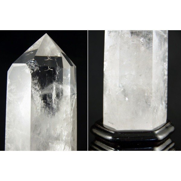 天然水晶ポイント ポリッシュ研磨 826g|ishino-hana|02