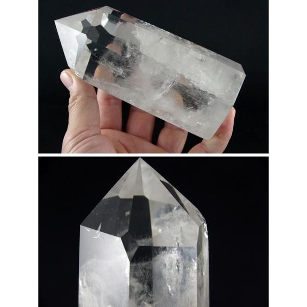 天然水晶ポイント ポリッシュ研磨 826g|ishino-hana|03