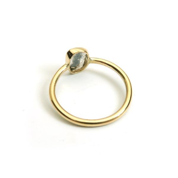 スライスダイヤモンド リング13号 K10YG(10金イエローゴールド)指輪 インドジュエリー