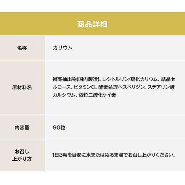 《管理栄養士監修》 ミネラルサポート サプリ カリウム 90粒 30日分|ishokudogen-store|14