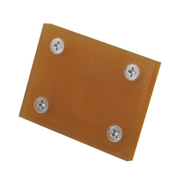 石材製品用吊りクランプ交換用角ウレタンパット4穴サイズ:小縦70mm×横95mm ゆうパケット  代引不可  ウレタン(並)