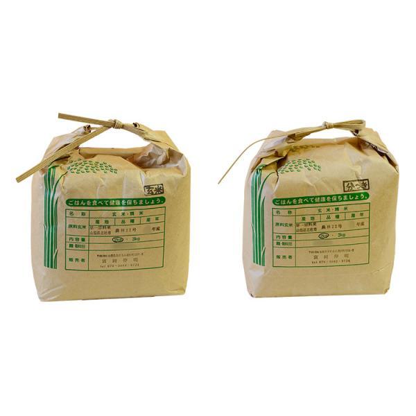 自然栽培米(無農薬・無肥料) 2種(玄米、5分つき) 2kg 富岡穀倉