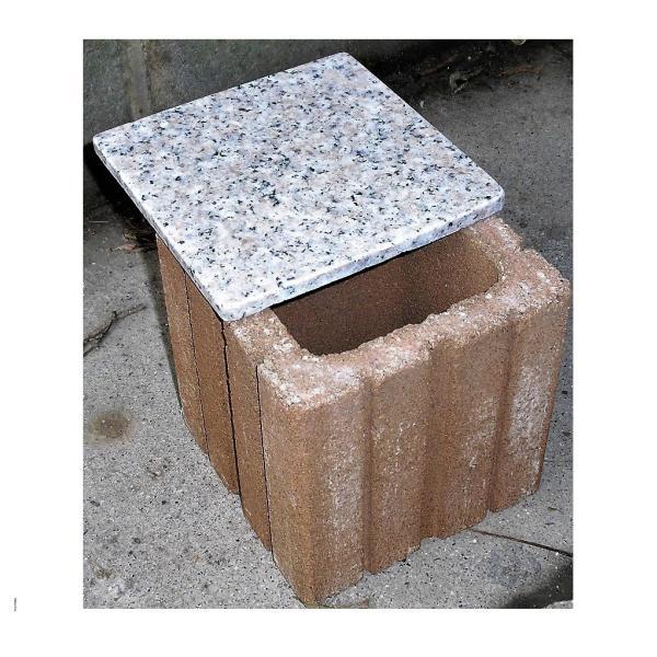  ペット用墓石納骨所御影石蓋付き 猫・小動物・小型犬用 縦横高さとも15cm(内径10cm)単独注文…