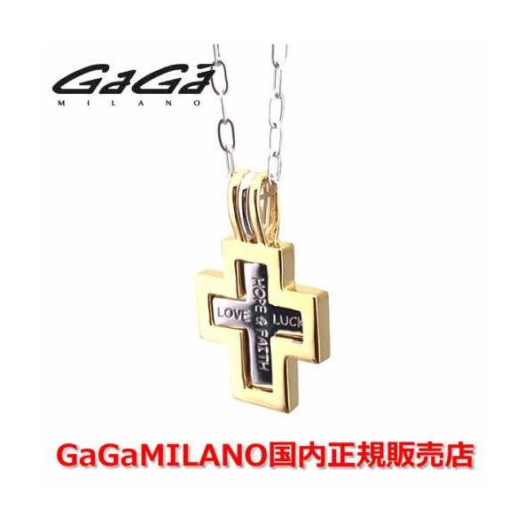 国内正規品 GaGa MILANO/ガガミラノ メンズ レディース ダブルクロスネックレス イエローゴールド/シルバー YellowGold/Silver