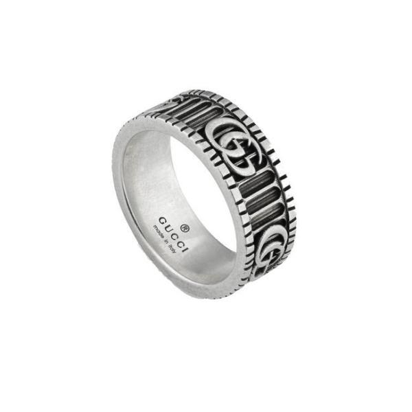 国内正規品 GUCCI グッチ マーモントリング MARMONT RING メンズ レディース ペア シルバーリング YBC551899001