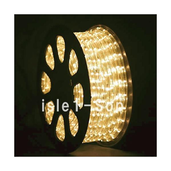 LEDチューブライト(50m)シャンパンゴールド LEDロープライト クリスマスライト イルミネーション|isle1|02