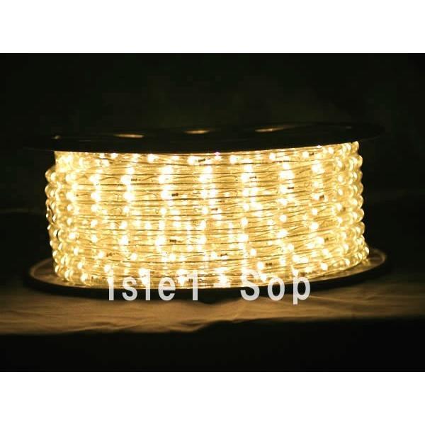 LEDチューブライト(50m)シャンパンゴールド LEDロープライト クリスマスライト イルミネーション|isle1|03