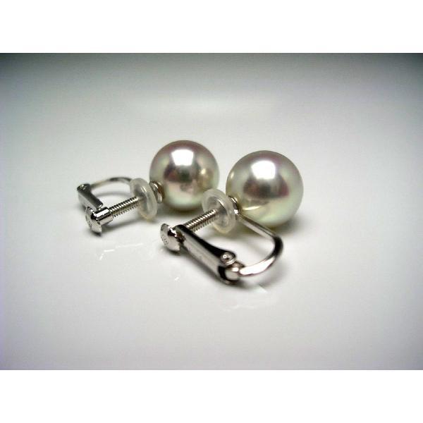 真珠 パール アコヤ真珠 イヤリング 真珠イヤリング パールイヤリング 8.5-9mm K14 ホワイトゴールド 55558