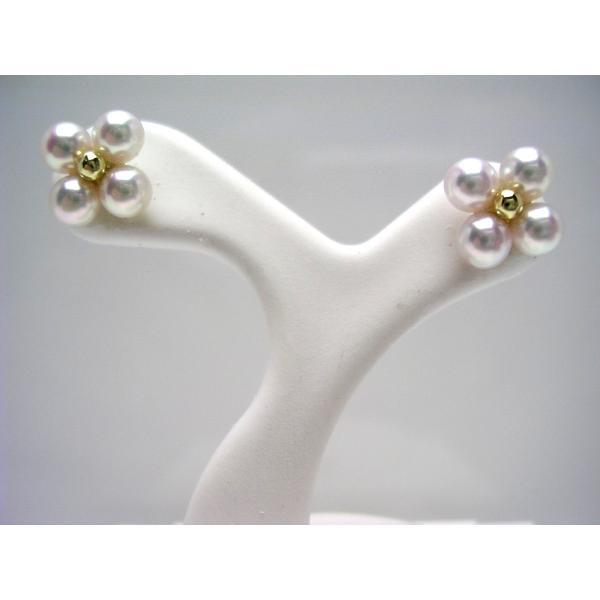 真珠 パール アコヤ真珠 スタッド ピアス 真珠ピアス パールピアス 3.8mm K18 イエローゴールド 60162