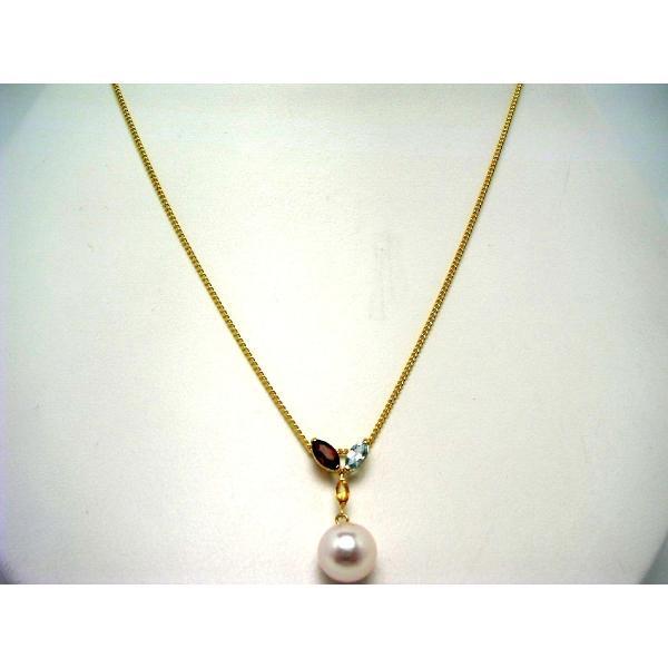 真珠 ペンダントトップ パール アコヤ真珠 真珠ペンダント パールペンダント 8.5-9mm K18 イエローゴールド 天然石 60403