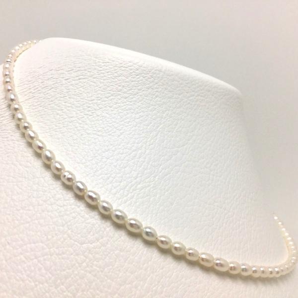 真珠ネックレスパール淡水真珠真珠ネックレスパールネックレス3.5-4.0mm66487