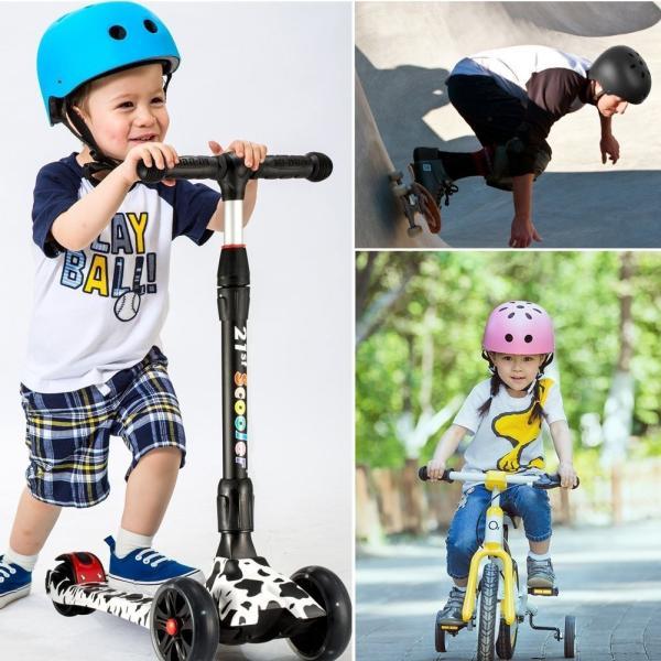 送料590円 ヘルメット 選べるサイズ 子供用 大人用 マット加工 豊富なカラー 軽量 調節可能  自転車 スポーツ キッズ レジャー 子ども用|isozaki-store|04