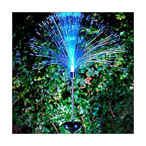 送料590円 庭 玄関先 ガーデンライト 照明 イルミネーション 飾り 芝生 装飾 照明 ソーラー LED 屋外 光ファイバー センサーで自動点灯|isozaki-store