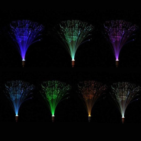 送料590円 庭 玄関先 ガーデンライト 照明 イルミネーション 飾り 芝生 装飾 照明 ソーラー LED 屋外 光ファイバー センサーで自動点灯|isozaki-store|03
