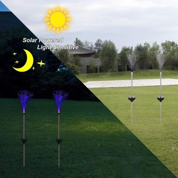 送料590円 庭 玄関先 ガーデンライト 照明 イルミネーション 飾り 芝生 装飾 照明 ソーラー LED 屋外 光ファイバー センサーで自動点灯|isozaki-store|04