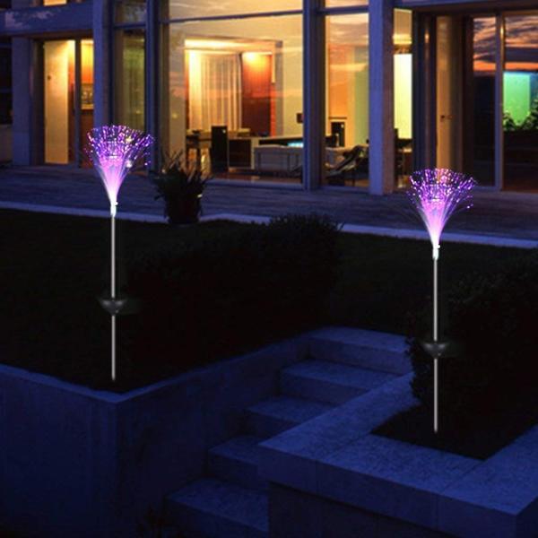 送料590円 庭 玄関先 ガーデンライト 照明 イルミネーション 飾り 芝生 装飾 照明 ソーラー LED 屋外 光ファイバー センサーで自動点灯|isozaki-store|05