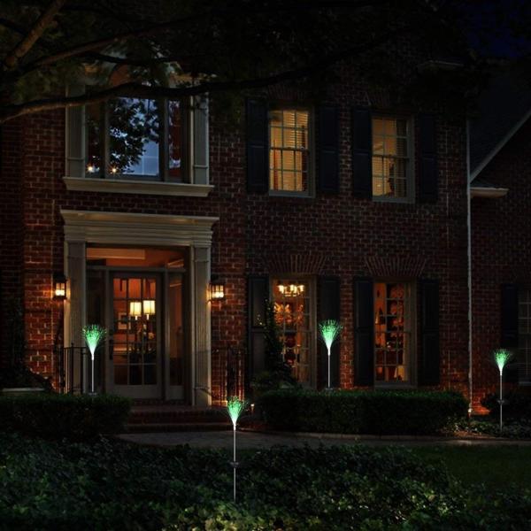 送料590円 庭 玄関先 ガーデンライト 照明 イルミネーション 飾り 芝生 装飾 照明 ソーラー LED 屋外 光ファイバー センサーで自動点灯|isozaki-store|07