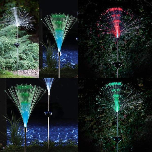 送料590円 庭 玄関先 ガーデンライト 照明 イルミネーション 飾り 芝生 装飾 照明 ソーラー LED 屋外 光ファイバー センサーで自動点灯|isozaki-store|08