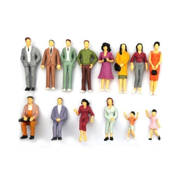 Nゲージ人形100体人形人物人間フィギュア塗装人鉄道模型・ジオラマ・建築模型・電車模型に8-11mmスケール1:150