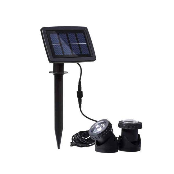 送料無料 ガーデンライト 2LEDセット ソーラーライト 屋外 スポットライト 水中ライト LED 防水 2LEDセット 防犯|isozaki-store