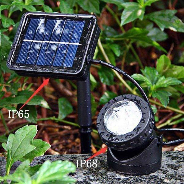 送料無料 ガーデンライト 2LEDセット ソーラーライト 屋外 スポットライト 水中ライト LED 防水 2LEDセット 防犯|isozaki-store|04